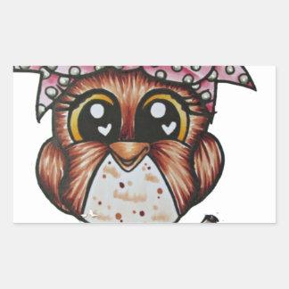 Adriana's Owl by Cheri Lyn Shull Sticker