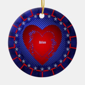 Adriane Round Ceramic Ornament