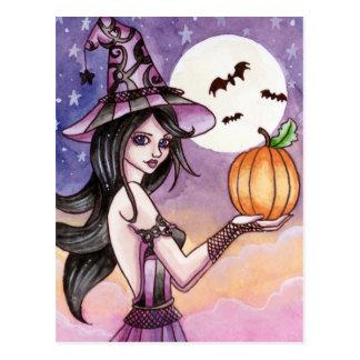 Adrianna - Halloween Witch Postcard