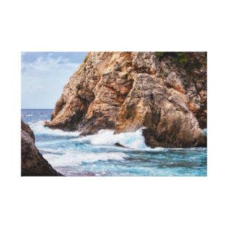 Adriatic Sea Coast in Croatia Canvas Print
