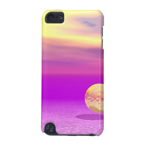 Adrift, Abstract Gold Violet Ocean iPod Touch (5th Generation) Cover