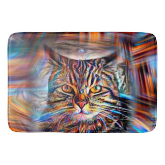 Adrift in Colors Abstract Revolution Cat Bath Mat
