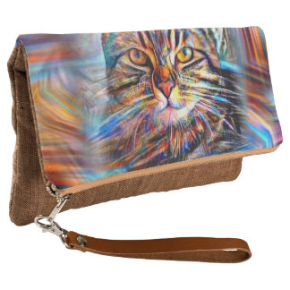 Adrift in Colors Abstract Revolution Cat Clutch