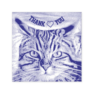 Adrift in Colors Abstract Revolution Cat Thank You Self-inking Stamp
