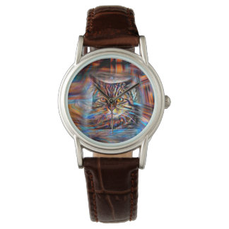 Adrift in Colors Abstract Revolution Cat Watch