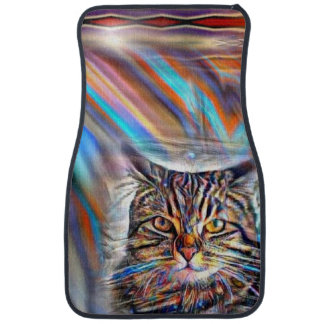 Adrift in Colors Tropical Sunset Cat Car Mat