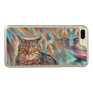 Adrift in Colors Tropical Sunset Cat Carved iPhone 8 Plus/7 Plus Case