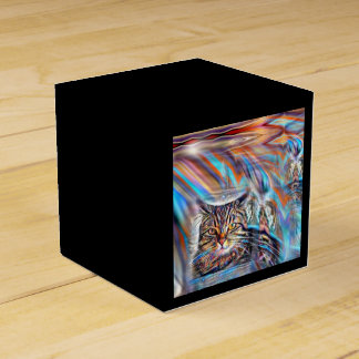 Adrift in Colors Tropical Sunset Cat Favor Box