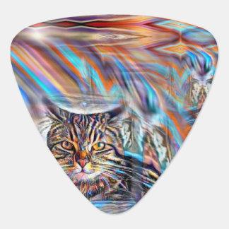 Adrift in Colors Tropical Sunset Cat Guitar Pick