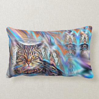 Adrift in Colors Tropical Sunset Cat Lumbar Pillow