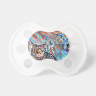 Adrift in Colors Tropical Sunset Cat Pacifier