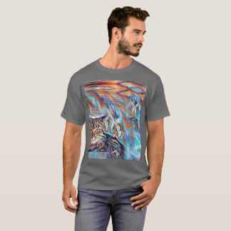 Adrift in Colors Tropical Sunset Cat T-Shirt