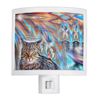 Adrift in Colours Tropical Sunset Cat Night Lites