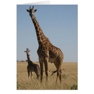 Adult & Baby giraffe Card