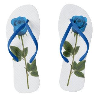 Adult, Blue rose Slim Straps Flip Flops