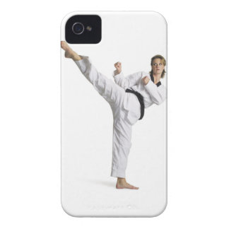 adult caucasian female martial arts expert in iPhone 4 Case-Mate cases