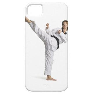 adult caucasian female martial arts expert in iPhone 5 covers