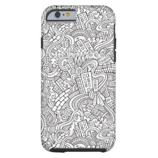 Adult Coloring Book Design Tough iPhone 6 Case