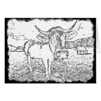 Adult Coloring: Color Me Cow Card