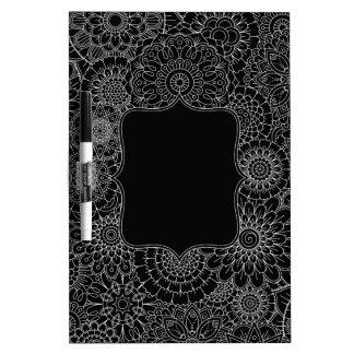 Adult Coloring DIY Dry Erase Board MEDIUM (Black)