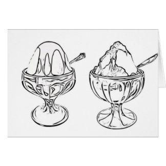 Adult Coloring: Ice Cream Sundaes Friendship Card