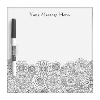 Adult Coloring Personalized Dry Erase Board SMALL