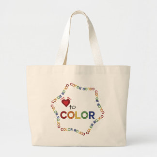 Adult Coloring Supply Large Tote Bag