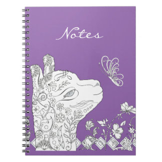 Adult Coloring Type Alpaca Butterfly DIY Notebook