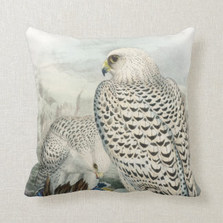 Adult Dark Greenland Falcon Birds of Great Britain Throw Pillow