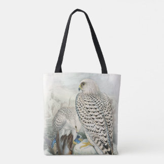Adult Dark Greenland Falcon Birds of Great Britain Tote Bag
