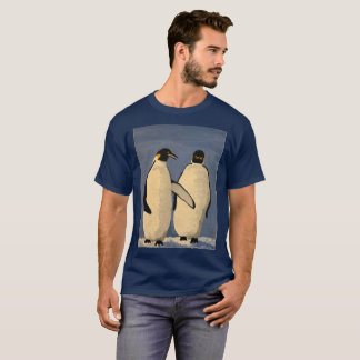 Adult emperor penguins walking and talking T-Shirt