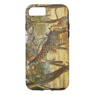 Adult female and juvenile Giraffe, Giraffa iPhone 7 Case