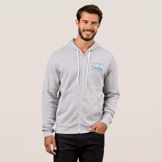 ADULT Gray Zip Up Hoodie, Cooke Logo Hoodie