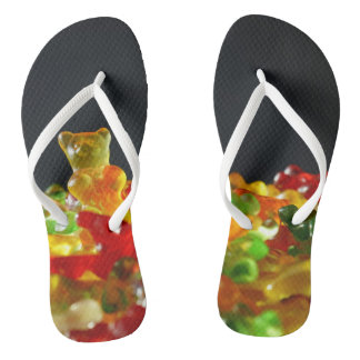 adult gummy bear flip flops