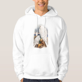 Adult Light Greenland Falcon Birds Great Britain Hoodie