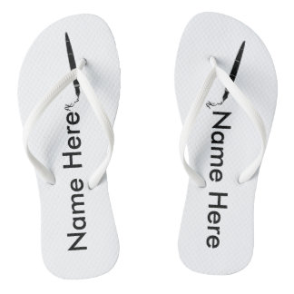 Adult, Name Here Slim Straps Add your name Flip Flops