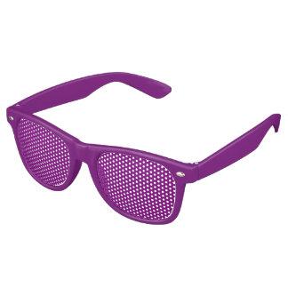 Adult Retro Party Shades, Purple Retro Sunglasses