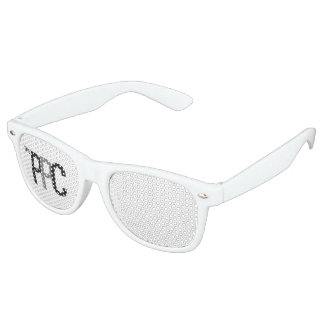 Adult Retro Party Shades, White Party Shades