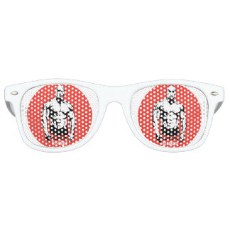 Adult Retro Party Shades, White Party Sunglasses