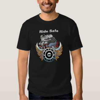 "Adult ""Ride Safe"" T-Shirt, Bikers are Animals © Shirt"