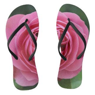 Adult, Slim Straps Roses Macro Flip Flops