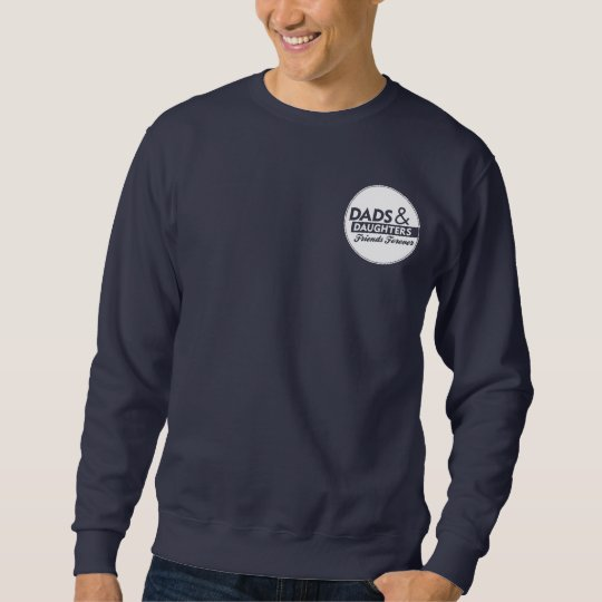 Adult Sweatshirt: Large Back Logo Front Pocket Art Sweatshirt