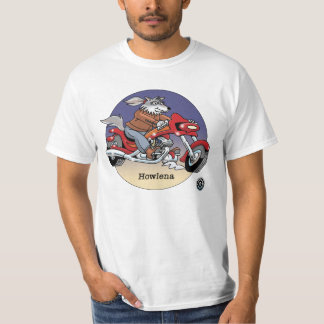 Adult T Shirt - Howlena, Bikers are Animals ©