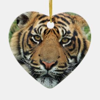 Adult Tiger Ceramic Ornament