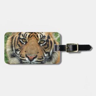 Adult Tiger Luggage Tag