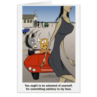 Adultery in your heart. card
