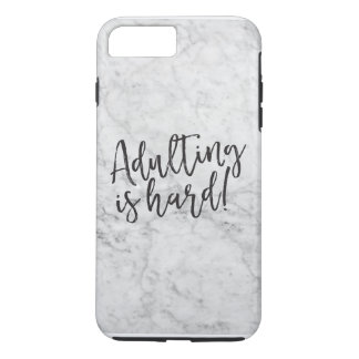 Adulting Is Hard Marble iPhone Case