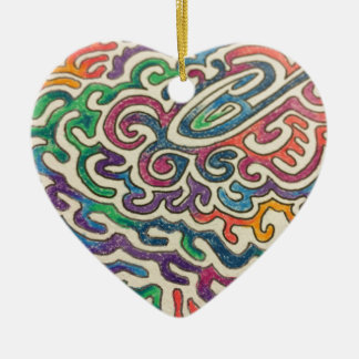 Adulting Zen Ceramic Heart Ornament