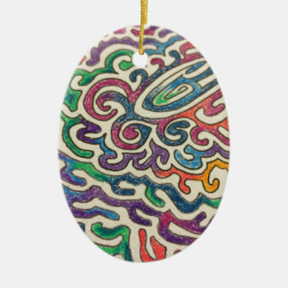 Adulting Zen Ceramic Oval Ornament