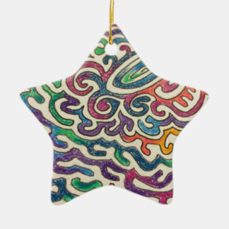 Adulting Zen Ceramic Star Ornament
